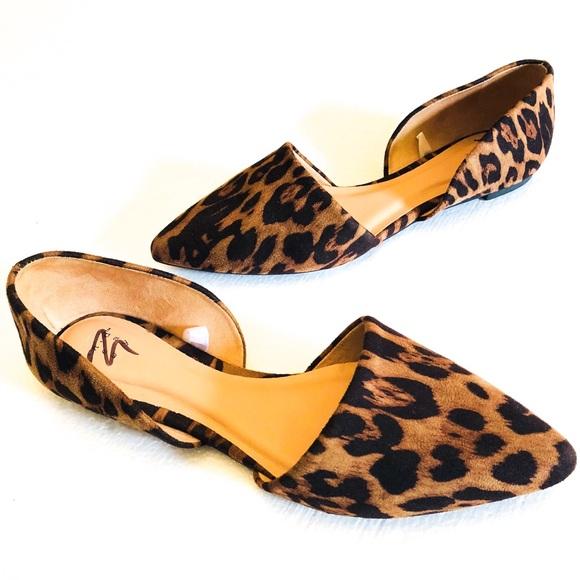 Leopard Print D Orsay Loafer Flat
